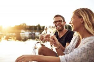Happy Couple Toasting Glasses